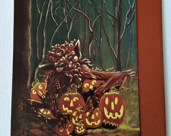 """Halloween frame-able greeting card """"The Collector"""""""