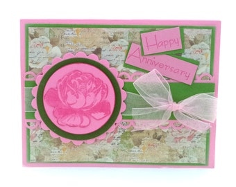 Anniversary Card, Happy Anniversary Card, Rose Card, Card for Anniversary