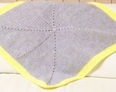 Grey and Yellow Baby Blanket Crochet