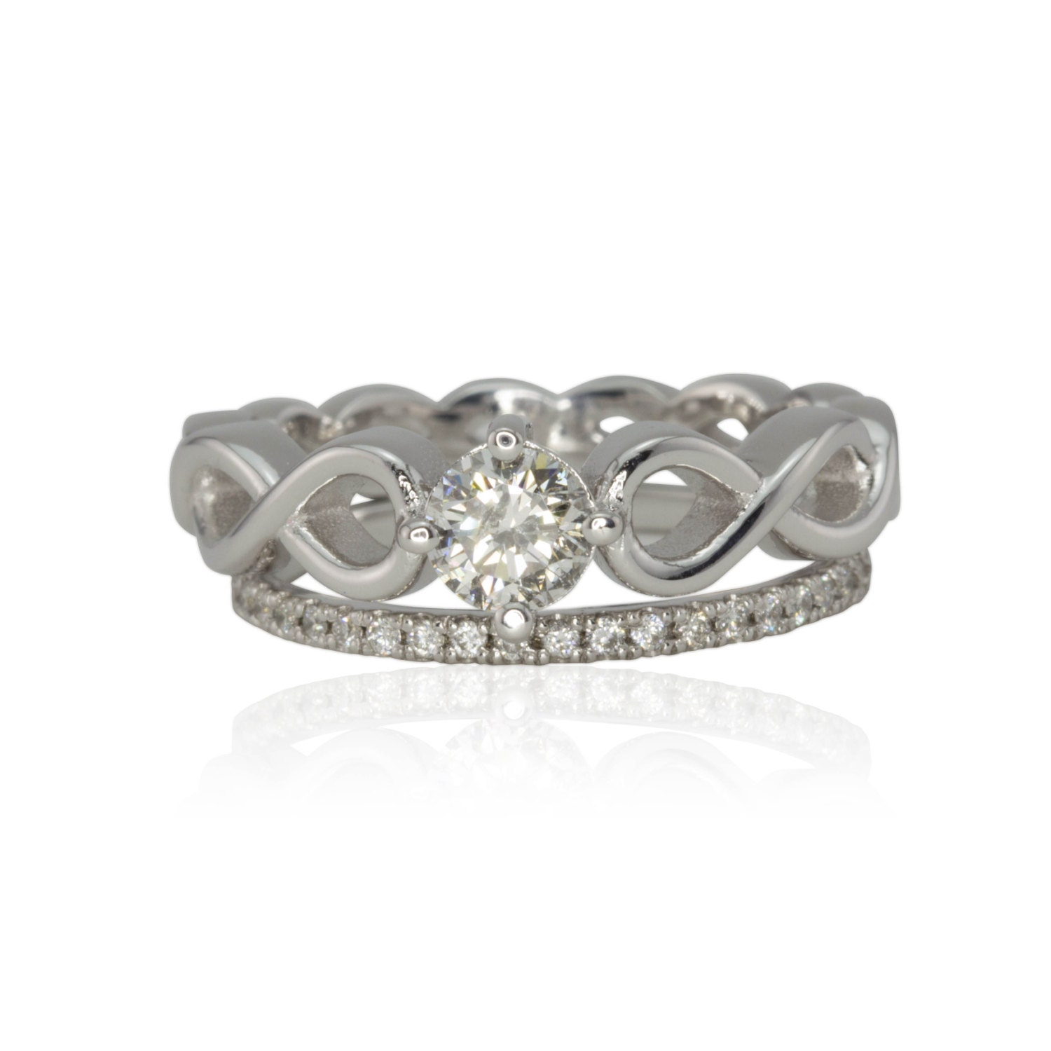Diamond Engagement Ring Diamond Infinity Engagement Ring With