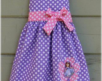 Sofia The First Jumper Dress, Sofia The First Lavender Pink Outfit, Sofia The First Birthday Party Dress, Custom Boutique GIrl Clothes