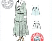 E-Pattern-  1910s SKIRT- Circa 1916 - Wearing History PDF Vintage Historical Costume Sewing Pattern