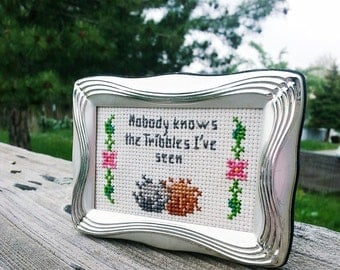 Nobody Knows the Tribbles I've Seen - Star Trek Cross Stitch Pattern Download