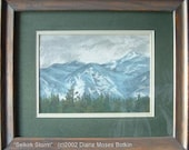 Matted and framed, Original 7x10 inch art -- SELKIRK STORM -- pastel on board, mountain study by Diana Moses Botkin