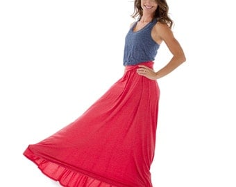 The Perfect Maximum Maxi Skirt.  9 Colors to Choose From- Casual Goddess Yoga Comfy Sporty Flowy  Lounge Maxi