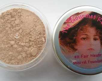 FAIR NEUTRAL #0 Sheer Bare Foundation Minerals 100 All Natural Mineral Makeup Full Size Jar