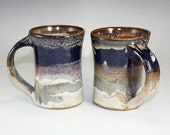 Stoneware Pottery Coffee Mug Earthy and Rustic Larger Size holds 12-14 ounces ,  ready to ship