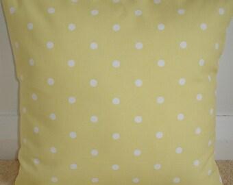 "26x26 Pillow Cover Euro Sham 26"" Yellow Cushion Case Slip Polka Dot Camomile Decorative Cotton Pillowcase White Polkadot Dots"