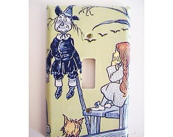 Wizard of Oz switch plate cover retro vintage fairy tale wall decor kitsch