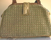 Bella Tapestry Knitting/Crochet Handbag/Tapestry tote purse/ Women's handmade handbag/COBBLESTONE SPA
