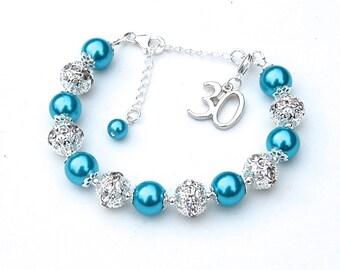 25th 30th 40th 50th 60th Birthday Charm Bracelet, Special Birthday Jewelry, Anniversary Charm Bracelet