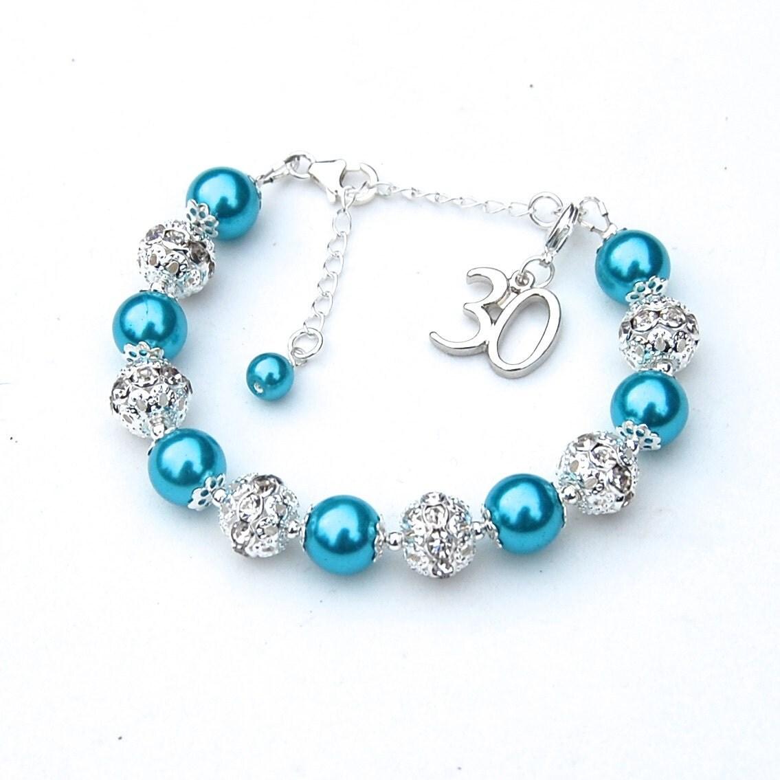 25th 30th 40th 50th 60th birthday charm bracelet special