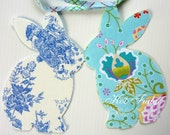Easter Bunny Garland, Baby Shower, blue tape, double sided fabric