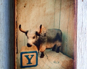 Vintage Toy Y is for Yak Art/Photo - Wall Art 4x6