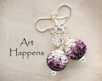 """Ready for Purple Earrings?  Purple Crystal Earrings, """"Purple Pleasures"""""""