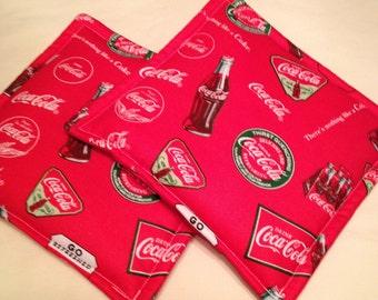 Coca Cola New Print  Pot Holders set of 2
