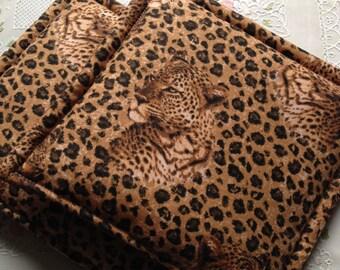 Leopard Print Potholders set of 2