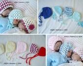 CROCHET PATTERN For 3 Styles of Hats in 5 Sizes Boys, Girls, Baby, Hats, Bonnet, Beanie PDF 84