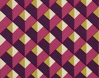 1 YARD - Joel Dewberry Fabric - Bungalow, Chevron, Lavender - SALE
