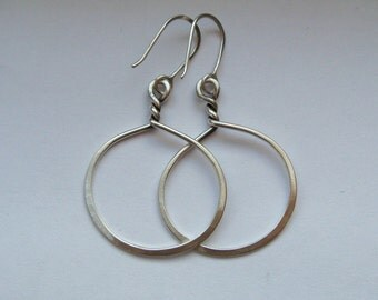 Sterling Silver Twisted Hoops Small