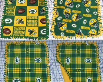 Green Bay Packers Fleece Baby Blanket Pet Lap Hand Tied NFL Football