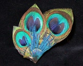 Peacock Brooch- Hat PIn, Lapel PIn for Men and Women