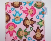 Pink Monkey Zippered Snack Bag FREESHIP Canada Sandwich Size