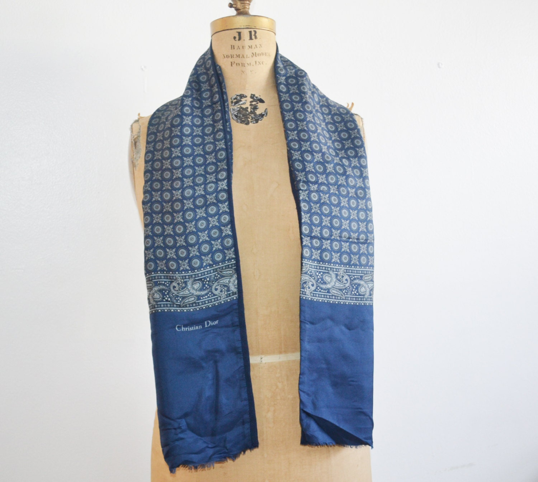 Vintage Men's Scarf silk Scarf Christian Dior Scarf