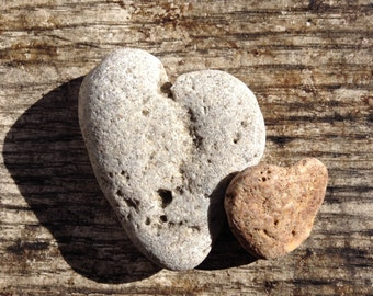 STONE HEARTS...7 natural undrilled beach stones,organic supplies,love rocks,wedding token,zen