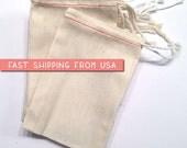 """100 bulk 6"""" x 8"""" Premium MUSLIN BAGS,  Drawstring Bags, natural cotton muslin bags, potpourri sachet, stamping, packaging, DIY party favor"""