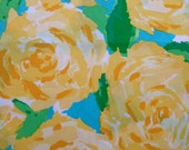 """lilly pulitzer's sunglow yellow first impression poplin cotton fabric square 18""""x18"""""""