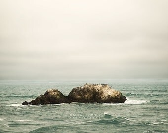 Ethereal Sea, Teal Ocean Art, Landscape Photography, Ocean Photo, Teal Sea, Ocean Decor, Large Wall Art