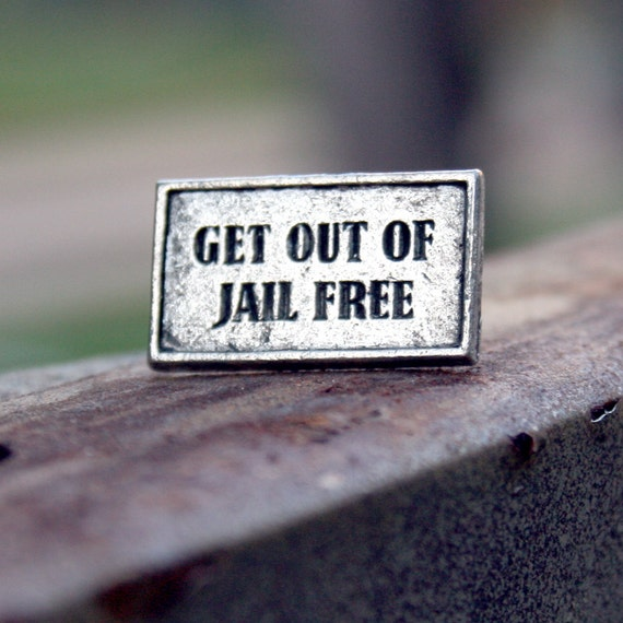Tie Tack - Get out of Jail Free Card