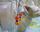 Earrings for Junior Girl: African Trade Beads and Swarovski Crystals