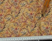 Dollhouse Miniature Victorian UPHOLSTERY FABRIC Acanthus Floral Gold 1/12th