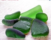 ON SALE NOW Yummy green sea glass bottle bottoms Central California Coast 62F