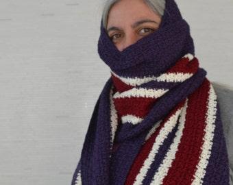 PDF Crochet Pattern - Serape Shawl