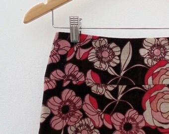 Floral Skirt, Velvet Skirt, 90s Clothes, Floral Velvet, Vintage Clothes, Vintage Skirt, A Line Skirt, Womens Wear, Size US 12 Women