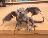 Needle Felted Gargoyle by Shelly Schwartz