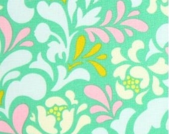 Pop Garden Teal Ice Blue Sway  Heather Bailey Fabric 1 Full Yard HB-04