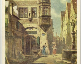 The Dispenser in Love Vintage Postcard by Carl Spitzweg (1808 - 1885) PSS 2346