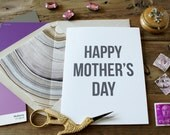 Shimmery Silver/Purple Marble Happy Mother's Day Card