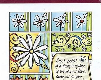 Stamp Magenta Spring Passion Rubber - Kitsnbitscraps