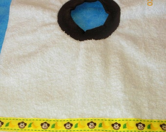 Monkeys and Bananas Baby/Toddler Slip On Bib