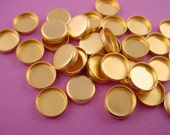36 brass  Round Bezel Cups 8mm High Wall