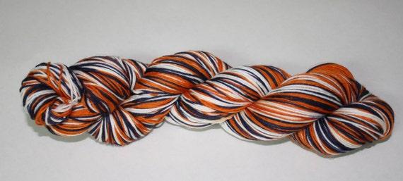 Tigers Self - Striping Hand Dyed Sock Yarn