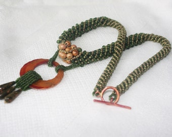 Transitions Necklace with Copper and Rhyolite