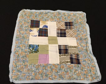 Vintage Sixteen Patch Variation Doll Quilt
