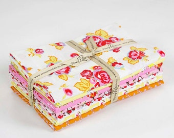 SALE 7 Yards Milk, Sugar & Flower fabric Bundle Riley Blake Designs by Elea Lutz Cream