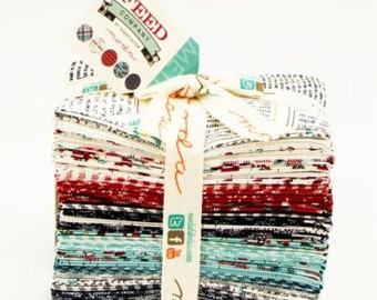 SALE 35 Fat Eighths 1/8 FEED fabric bundle Moda by Sweetwater